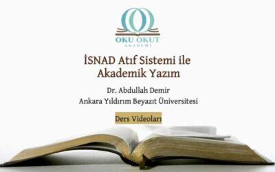 İSNAD Atıf Sistemi ile Akademik Yazım