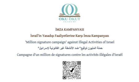 Stop Illegal Activities of Israel | İsrail'in Yasadışı Faaliyetlerini Durdurun