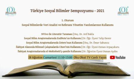 'Türkiye Sosyal Bilimler Sempozyumu – 2021' başladı