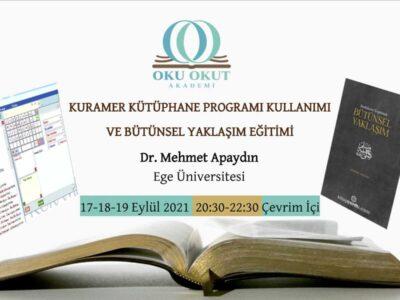 KURAMER Kütüphane Programı Kullanımı ve 'Bütünsel Yaklaşım' Eğitimi