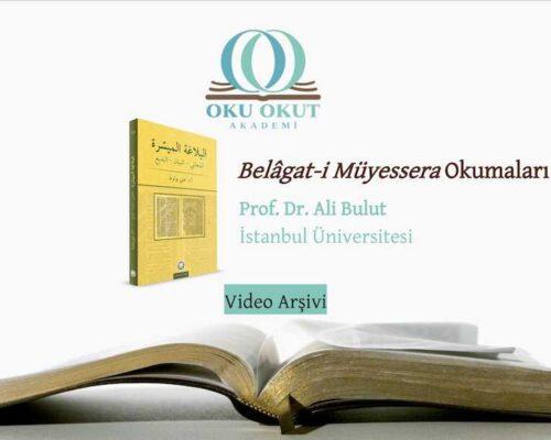 Belâgat-i Müyessera Okumaları